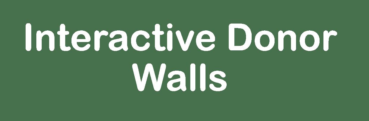 Interactive Donor Walls
